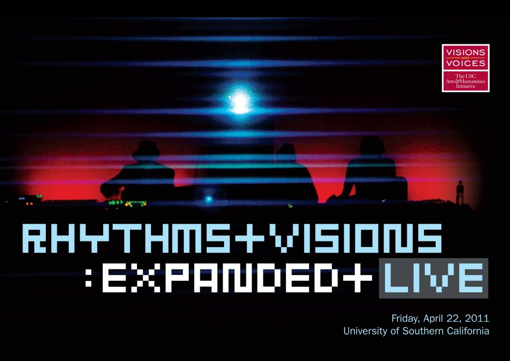 Event poster for Rhythms + Visions