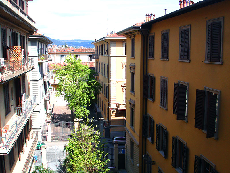 View from the student's apartment