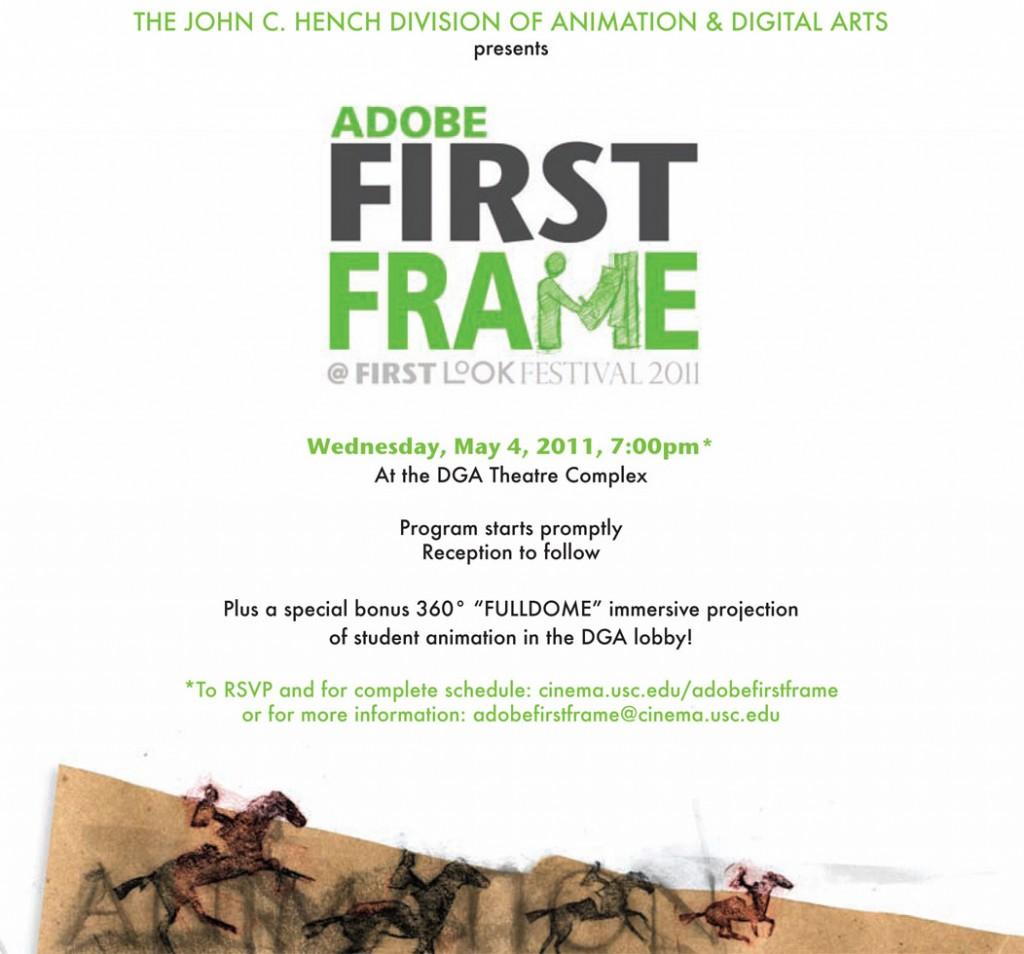 Adobe First Frame 2011 poster